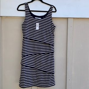 Loft navy stripe dress
